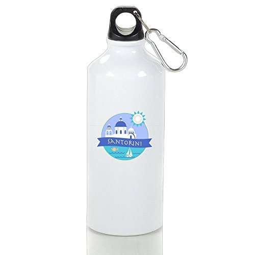 Santorini Aluminum Glass - Xihuan Santorini Greece Aluminum Outdoor Sports Bottle Perfect For Tour Glass White 600ml