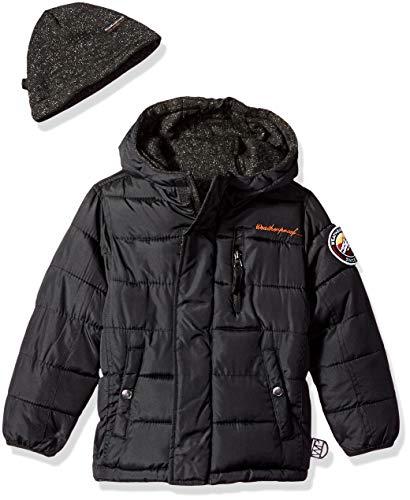 Weatherproof Boys' Toddler Reversible to Sweater Fleece Jacket, Black, 2T