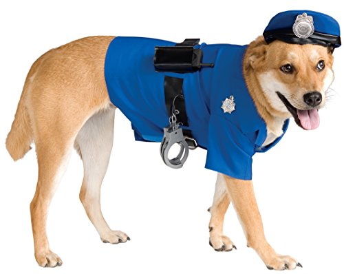 [Rubie's Police Dog Pet Costume, X-Large] (Halloween Costumes With Dog)