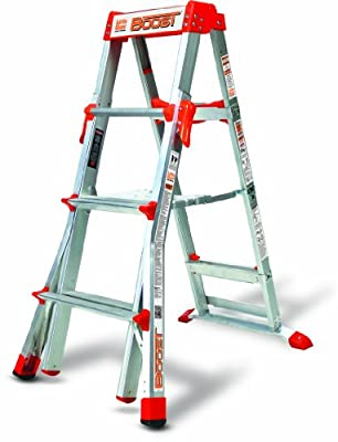 Little Giant Ladder Systems 15234-001 Boost 300-Pound Duty Rating Adjustable Stepladder