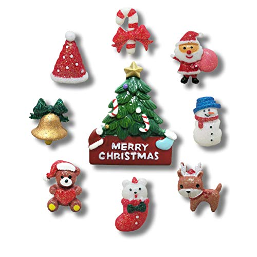 9 Pack Creative Christmas Fridge Magnet Gifts Christmas Day Home Decoration Kids Refrigerator Magnet - Perfect Magnets for Whiteboard, Refrigerator, Map and Calendar]()