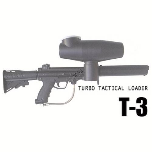 Allen Paintball Products Turbo T-3 Offset Hopper 300 - Black