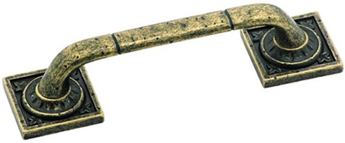 Amerock BP4482R2 Ambrosia Euro Stone Square Pull, Weathered Brass, 3-3/4-Inch (Weathered Brass Amerock)