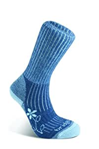 Bridgedale Women's MerinoFusion Trekker Socks, Blue, Small