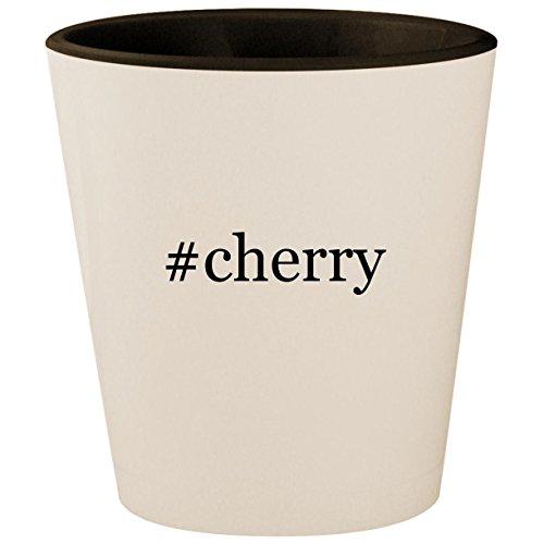 Bar Wine Hill Cherry (#cherry - Hashtag White Outer & Black Inner Ceramic 1.5oz Shot Glass)