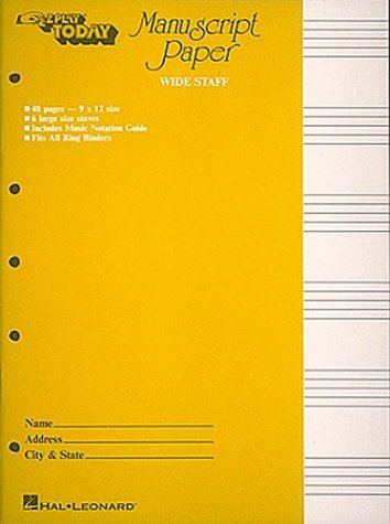 12 staff music writing pad