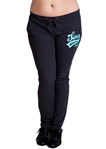 Charcoal Ladies Plus Size Super All Star Team Logo Drawstring Sweatpants