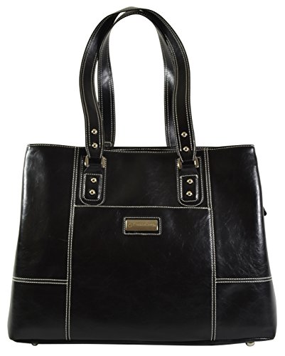 Franklin Covey Leather Like Business Women's Laptop Tote With Wrislet Purse and Padded Compartment For Computer Up To 15