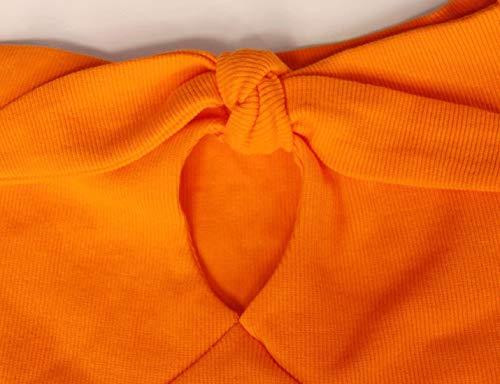 Maniche Magliette Battercake Alto Arancia Camicetta Elegante Con Cor Corte Collo A Donna r5XwqXRU1