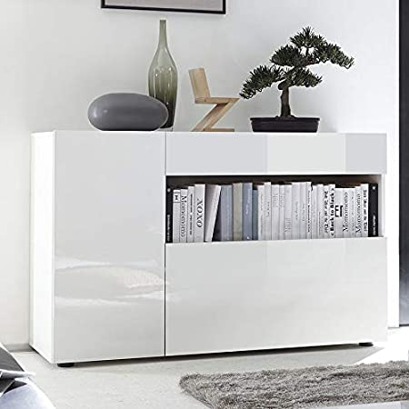 Nouvomeuble Petit Bahut Design Blanc Laque Picerno Amazon