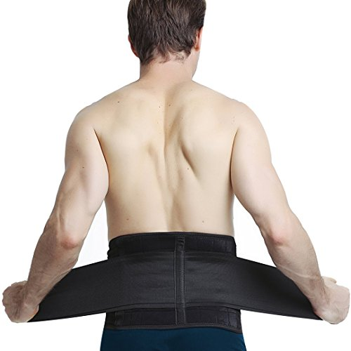 MEDIZED Deluxe Neoprene Magnetic Lumbar Lower Back Pain Brace Belt Strap Sports Weight Lifting Pain Relief (XL ( Waist 35' to 42' Inches))