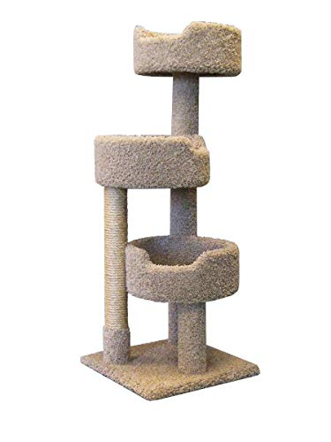 (Deluxe Cat Tower with spacious cat perches and scratching post  for Large Cats)