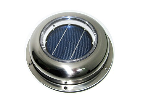 ECO LLC Solar Powered Roof Mounting Ventilator Stainless Steel Attic Fan For Home, RV, Boats (Vent Solar Boat)