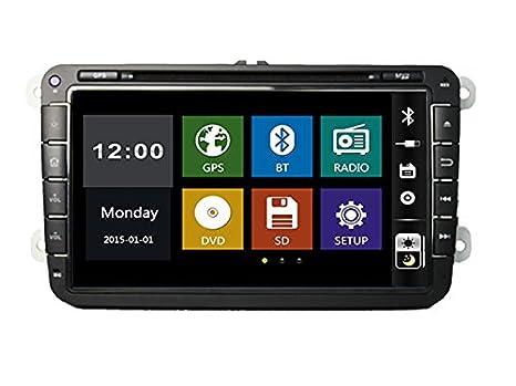 8 pulgadas coche reproductor de DVD con GPS, BT, TV, USB/SD AUX ...