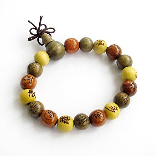 Wood Beads Tibetan Buddhist Prayer Bracelet Mala