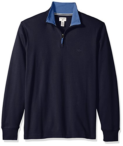 Dockers Men's Long Sleeve Interlock Quarter Zip