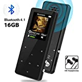 MP3 Player, MP3 Player with Bluetooth, 16GB Portable Digital Music Player with FM Radio/Recorder Touch Button Music Speaker, HiFi Lossless Sound Quality, Expandable up to 128GB TF Card