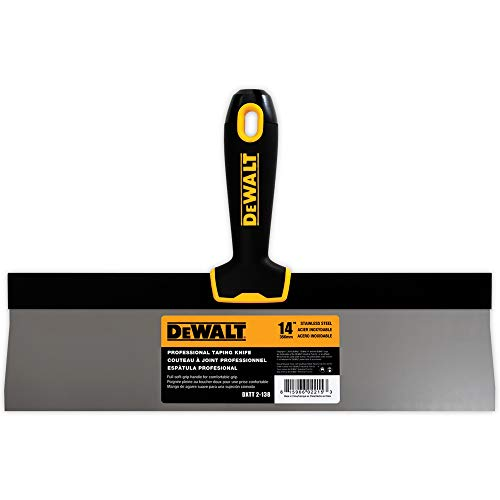 DEWALT 14-Inch Taping Knife | Stainless Steel w/Soft Grip Handle