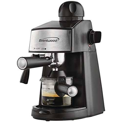 ESPRESSO CAPPUCCINO MAKER, Espresso & Cappuccino Maker, Brews up to 20oz of espresso coffee, Powerful steamer to make rich cappuccinos & lattes, Glass decanter with cool-touch handle, Removable dri…