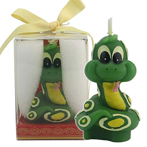 TinaWood Cute Cartoon Snake Birthday Candle, Smokeless Cake Candles Home-Made Cake Topper, Great Decoration for Home Party Children's Day (Snake)