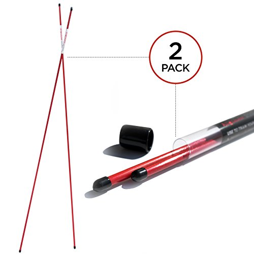 - Shaun Webb Golf Alignment Sticks | Practice Rods, Training Accessories and Equipment | Aiming, Putting, Full Swing Trainer | Shoulder, Hip and Posture Corrector with Clear Tube Case | Best Golfer Gift