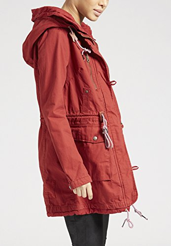 Blusa Chaqueta Rojo Larga para Básico Khujo Manga Mujer T75qU5w