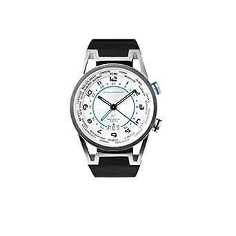 Piquadro Wwwatch GMT-Uhr mit Kalender MÄnnern - sandgestrahltem Edelstahl - wasserdicht bis 5 ATM - grau - OR1002WW-