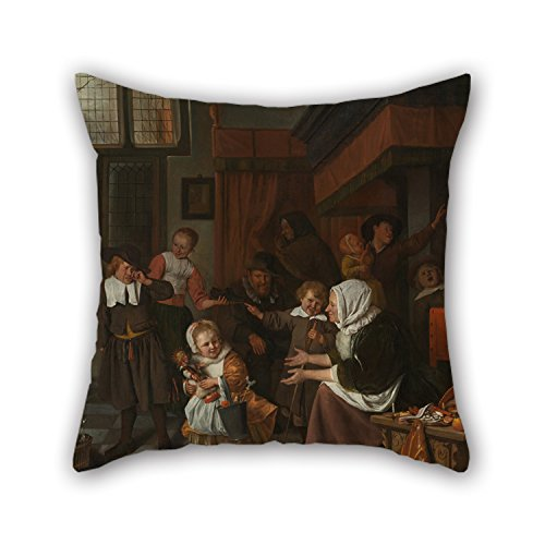 [Slimmingpiggy Oil Painting Jan Havicksz. Steen - Het Sint Nicolaasfeest Cushion Covers ,best For Living Room,gf,play Room,bf,family,dance Room 18 X 18 Inches / 45 By 45 Cm(2] (The Incredibles Costumes Nz)