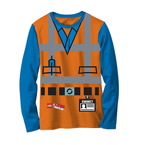 LEGO Movie Emmet Orange Boys Long Sleeve Costume T-Shirt (5/6) for $<!--$14.95-->