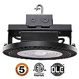 UFO LED High Bay Light,98W [250W-350 Equivalent] 14500lm 5000K IP65 Waterproof Industrial Grade Warehouse Hanging Light Workshop Lamp cETLus Listed-98W-F