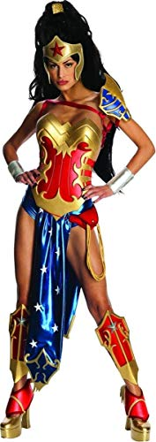 Secret Wishes Womens DC Comics Ame-comi Heroine Series Wonder Woman Costume, Red/White/Blue, X-Small ()