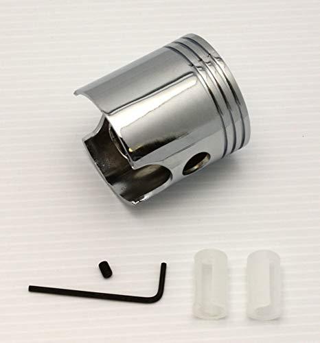 (Chrome Universal Piston Shifter Knob Manual Stick Shift Rat Rod)