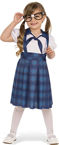 Rubies Costume Child's Nerd Girl Costume, X-Small, Multicolor (Toddler Nerd Costumes)