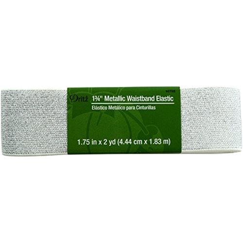 UPC 072879286304, Dritz Metallic Waistband Elastic, 1-3/4 x 2 yd, White with Silver