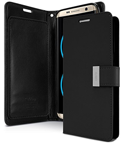 Galaxy S8+ [PLUS] Case, [Tri-Fold Wallet Case] GOOSPERY Rich Diary [Drop Protection] Smooth PU Leather Shock Absorbing TPU Casing [ID Card & Cash Holders] Cover for Samsung Galaxy S8 PLUS