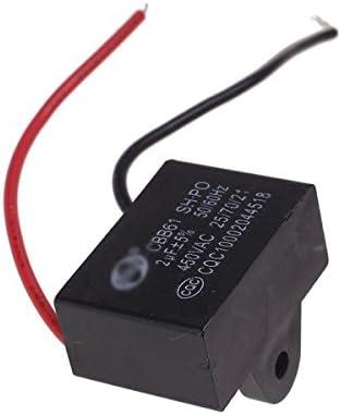 FLAMEER 450V AC 2uF 50 / 60Hz Polipropileno Condensador De Funcionamiento De Arranque CBB61