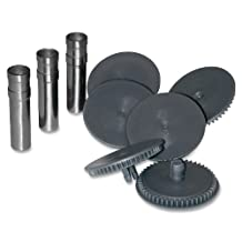 Swingline Replacement Punch Heads for Swingline Punch #A7074650 High Capacity Heavy Duty Punch, 9/32 Inch, 1 Set of 3 Punch Heads, 6 Cutting Discs, A7074872