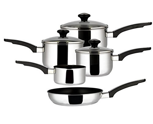 Prestige Everyday Stainless Steel Cookware Set, 5-Piece - Silver-Best-Popular-Product