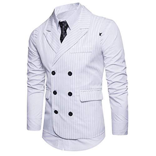 Double Cut Classique Casual Tweed Laisla Mode Costume Slim Hommes Blanc De Breasted À Striped Business Gentleman Mariage Smokings Garçons 0zIwxwY