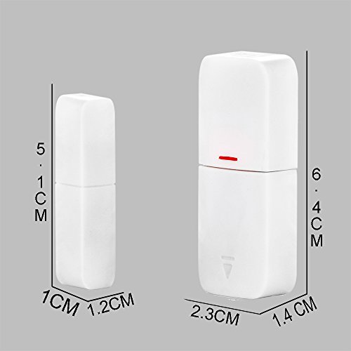 CallToU Wireless Door Open Chime Sensor Entrance Chime Entry Alert Alarm For Home Retail Store Business shop Apartment Office 1 Magnet Door/Window sensor 1 Receiver by CallToU (Image #4)