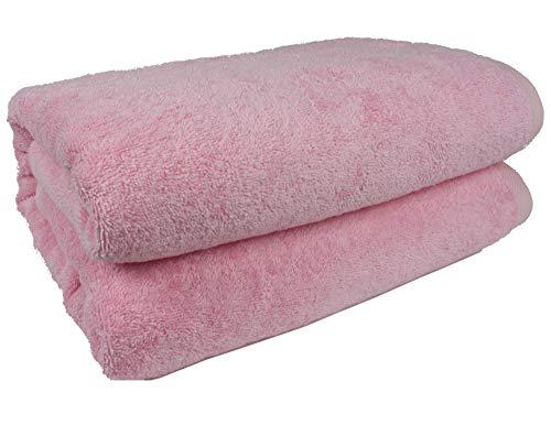 SALBAKOS 40''x80'' Turkish Cotton Bath Sheet, Luxury, Eco-friendly Large Oversized (40x80, Rose) by SALBAKOS