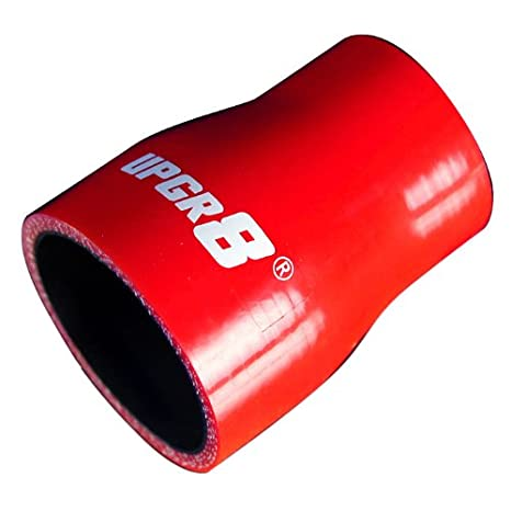 Upgr8 Universal 4-Ply High Performance Straight Reducer Coupler Silicone Hose 45MM 1.75 to 2.5 63MM , Red