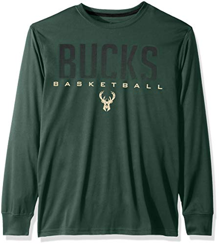 - NBA Milwaukee Bucks Men's T-Shirt Athletic Quick Dry Long Sleeve Tee Shirt, Medium, Hunter Green