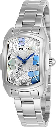 Invicta Women's Lupah Quartz Watch with Stainless-Steel Strap, Silver, 7 (Model: 23218) - Invicta Baby Lupah