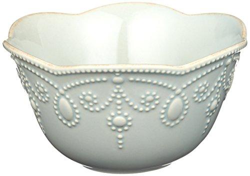 (Lenox French Perle Fruit Bowl, Ice Blue)
