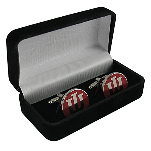 Metal Hoosiers Indiana (Indiana University Crimson Block IU Cufflinks IUCL1N IMC-Retail)