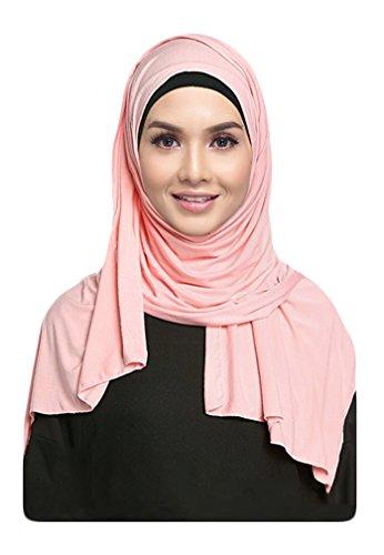 Hana's Womens Lightweight Girls Cotton Jersey Hijab Scarf One Size Black