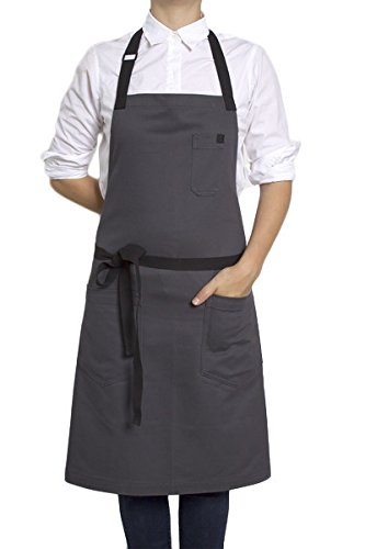 Hedley & Bennett American Made Apron: Mako Gray Chino Twill by Hedley & Bennett