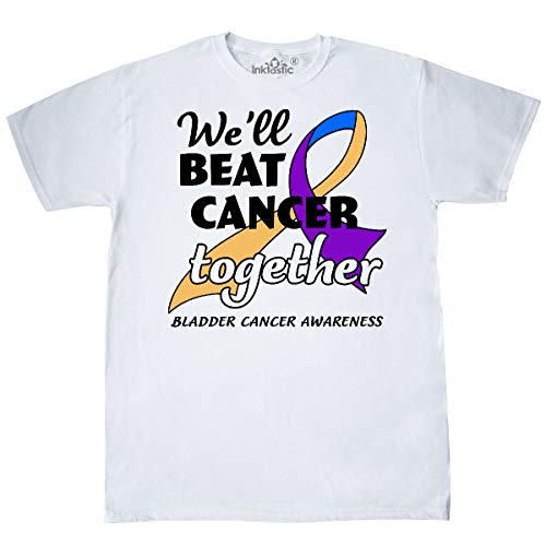 inktastic - We'll Beat Cancer Together- Bladder Cancer T-Shirt Small White 32085