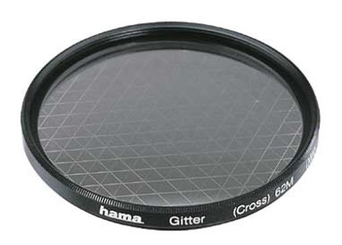 Hama Effekt-Filter, Sternfilter, 6-strahlig, 2-fach Vergütung, Für 77 mm Foto-Kameraobjektive, Gitter